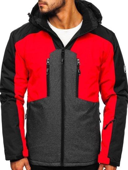 Kurtka męska narciarska czerwona Denley 1340