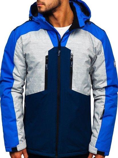 Kurtka męska narciarska niebieska Denley 1340