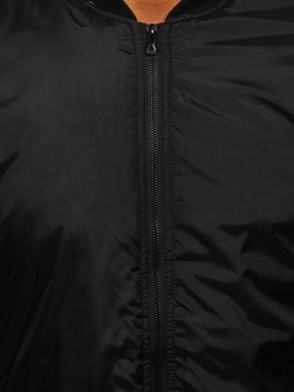 Kurtka męska przejściowa bomberka czarna Denley AK95