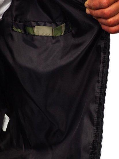 Kurtka męska przejściowa bomberka moro-zielona Denley MY01