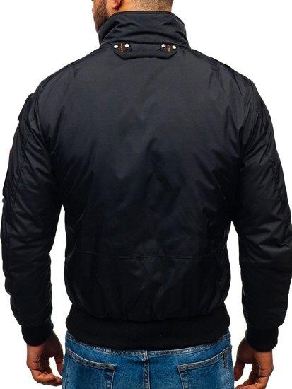 Kurtka męska przejściowa czarna Denley 4944