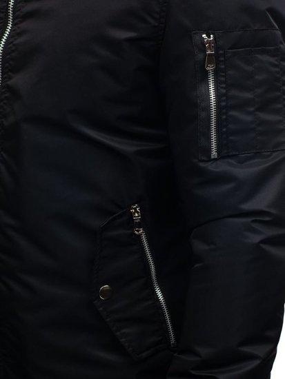 Kurtka męska przejściowa czarna Denley ak903