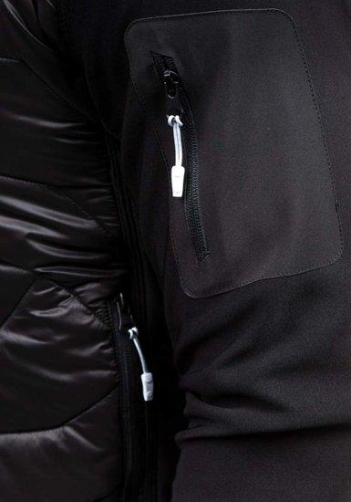 Kurtka męska przejściowa czarna Denley s015