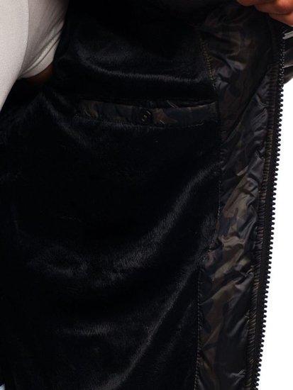 Kurtka męska przejściowa moro-khaki Denley 3156