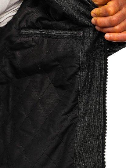Kurtka męska skórzana czarna Denley EX361