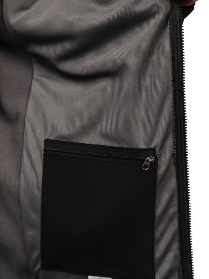 ZMNIEJSZONE O 50% Kurtka męska softshell czarna Denley T019