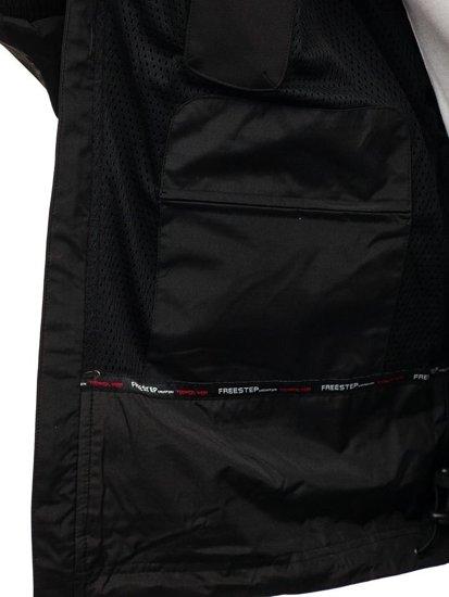 Kurtka męska softshell czarno-zielona Denley P188