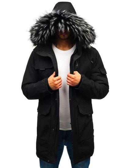 Kurtka męska zimowa czarna Denley 201809