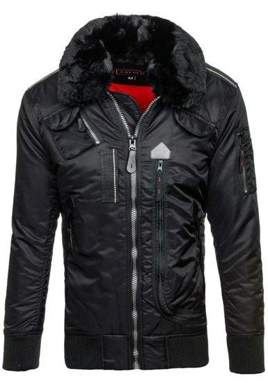Kurtka męska zimowa czarna Denley 3095