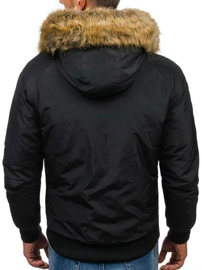 Kurtka męska zimowa czarna Denley 506