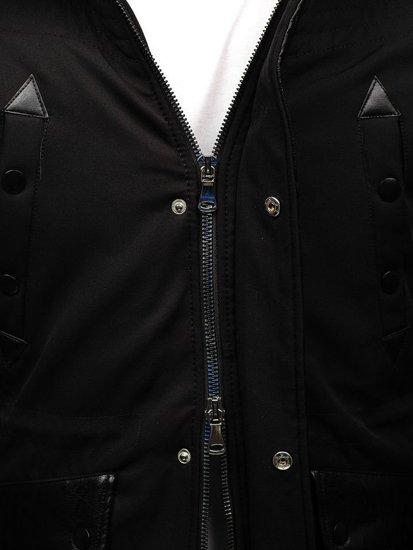 Kurtka męska zimowa czarna Denley 99111