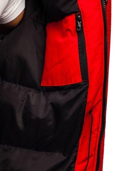 Kurtka męska zimowa czerwona Denley 201809