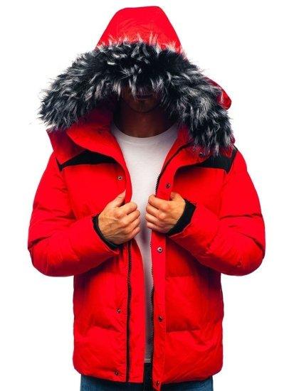 Kurtka męska zimowa czerwona Denley 201820