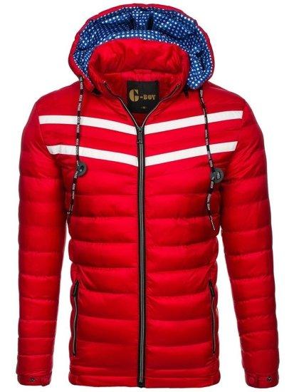 Kurtka męska zimowa czerwona Denley A211