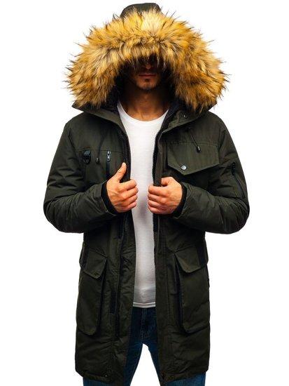 Kurtka męska zimowa khaki Denley 201813