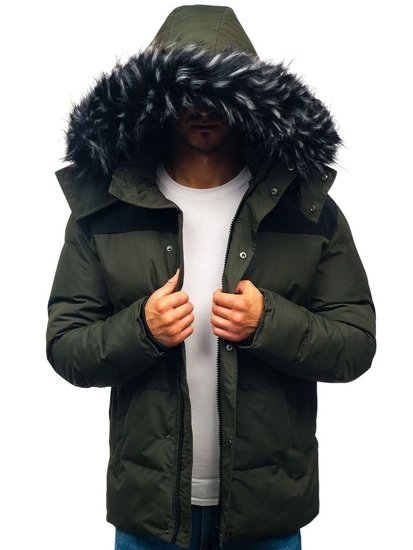 Kurtka męska zimowa khaki Denley 201820