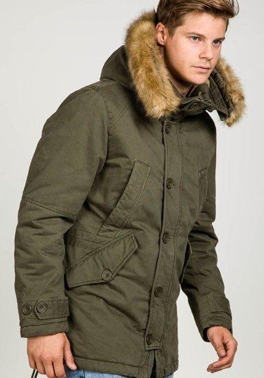 Kurtka męska zimowa khaki Denley 3148