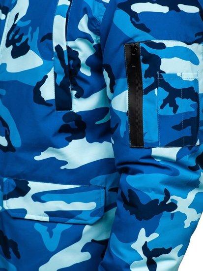Kurtka męska zimowa moro-niebieska Denley 2019M