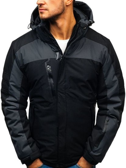 Kurtka męska zimowa narciarska czarna Denley HZ8112