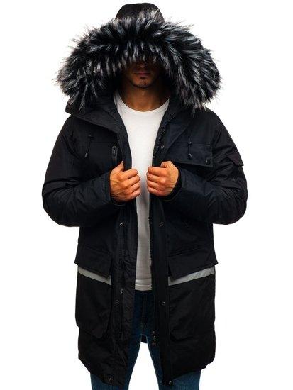 Kurtka męska zimowa parka czarna Denley 201815