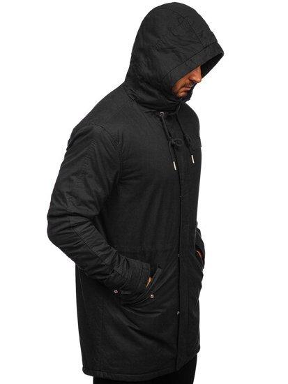 Kurtka męska zimowa parka czarna Denley EX838