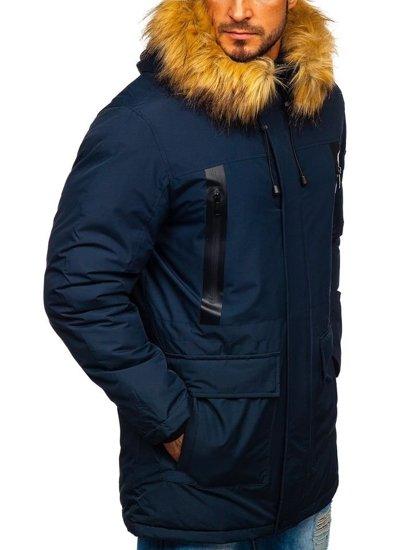 Kurtka męska zimowa parka granatowa Denley 1093