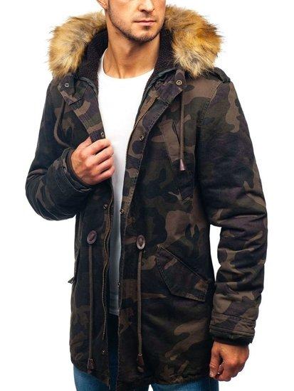 Kurtka męska zimowa parka moro-khaki Denley AM711
