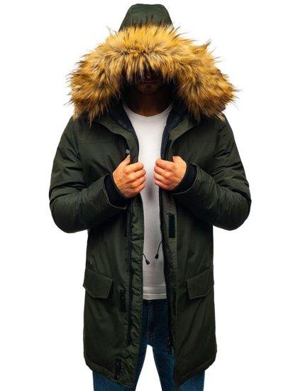 Kurtka męska zimowa parka zielona Denley 201810