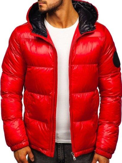 Kurtka męska zimowa pikowana czerwona Denley 99311