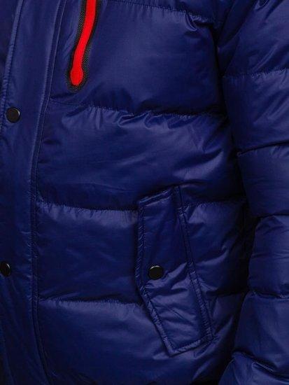 Kurtka męska zimowa pikowana granatowa Denley 5839
