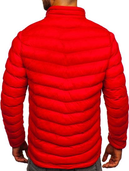 Kurtka męska zimowa sportowa czerwona Denley SM71