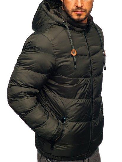 Kurtka męska zimowa sportowa pikowana khaki Denley 50A156