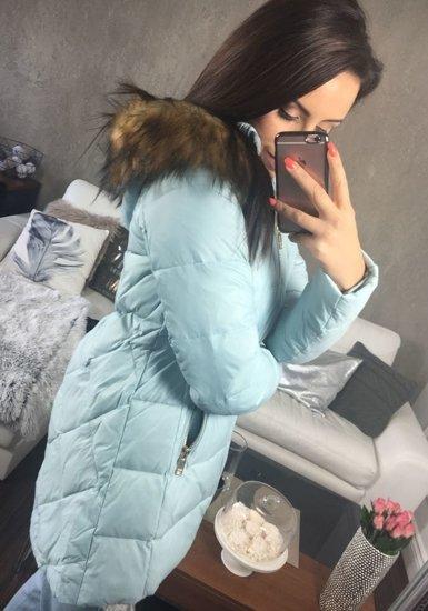 Kurtka zimowa damska błękitna Denley 8070