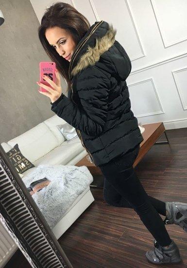 Kurtka zimowa damska czarna Denley 21