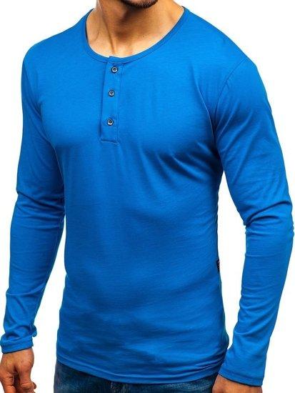 Longsleeve męski niebieski Bolf 1114