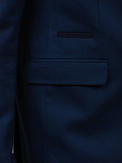 Marynarka męska elegancka granatowa Denley 1050