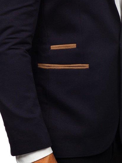 Marynarka męska elegancka granatowa Denley 9400