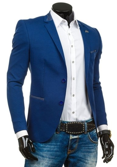 Marynarka męska elegancka niebieska Denley RBR156