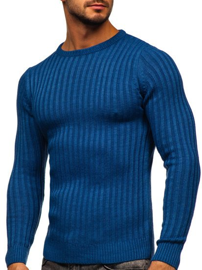Niebieski sweter męski Denley 4603