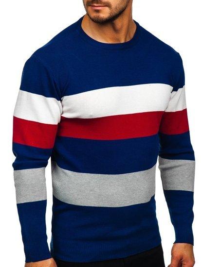 Niebieski sweter męski Denley H2005