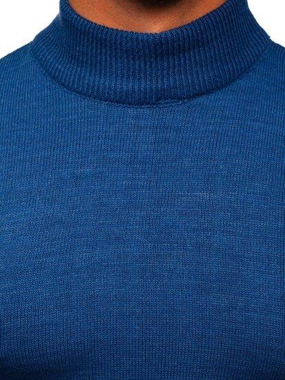 Niebieski sweter męski golf Denley 4600