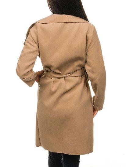 Płaszcz długi damski beżowy Denley 1729