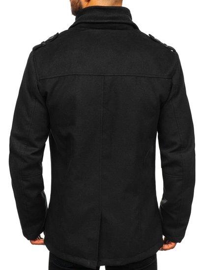 Płaszcz męski czarny Denley 8853