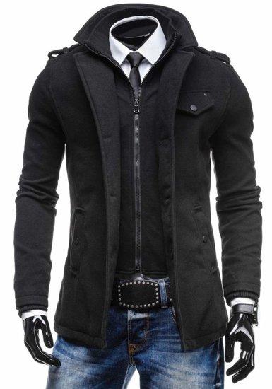 Płaszcz męski czarny Denley 8853C