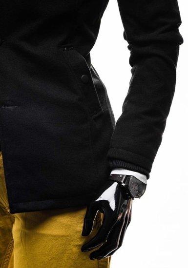 Płaszcz męski czarny Denley 8853E