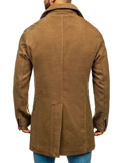 Płaszcz męski zimowy camelowy Denley 1048A