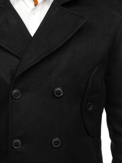 Płaszcz męski zimowy czarny Denley 3118