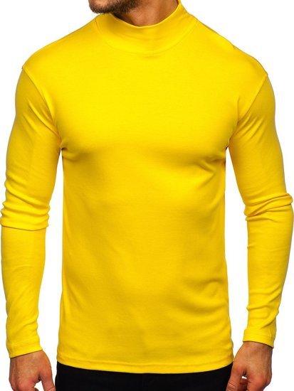 Półgolf męski basic żółty Denley 145348
