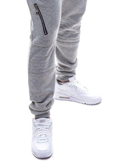 Spodnie baggy męskie szare Denley k11