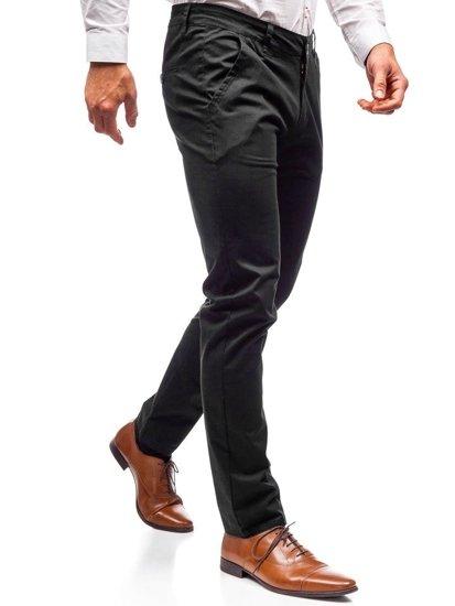 Spodnie chinosy męskie czarne Denley 2901